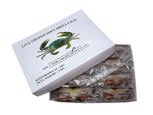100%淨重緬甸軟殼蟹100-120g 1kg/盒 (FS009-120BRA)