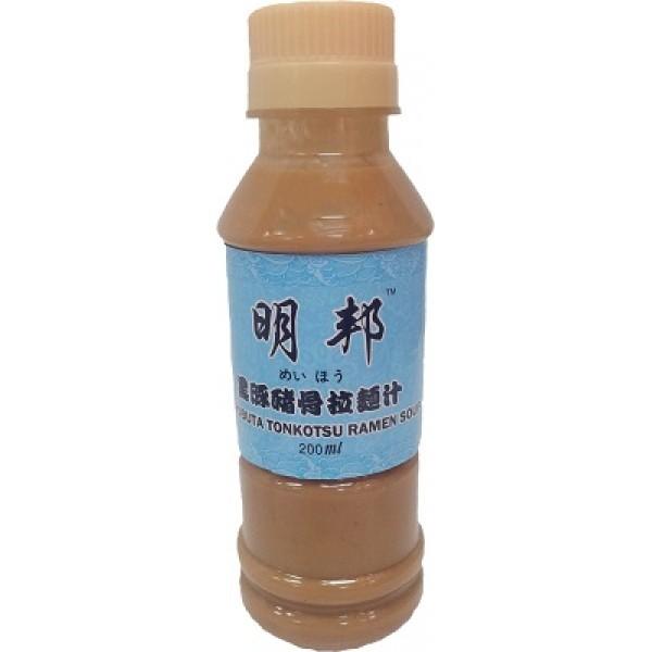 明邦黑豚豬骨拉麵湯>200ml (OS10RA)